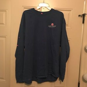 Blue simply southern long sleeve tee